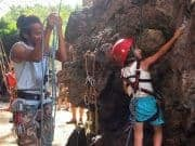 Wan and Salems first climb in Krabi, Thailand.
