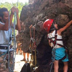 Wan and Salems first climb in Krabi, Thailand.