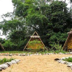 Bamboo huts at La Casa Shambala, Koh Phangan