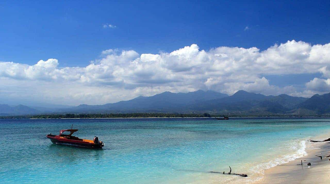 Looking towards Lombok from Gili Air, Indonesia