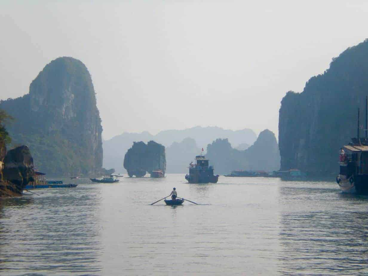 Impressive karst scenery of Halong Bay, UNESCO World Heritage Site!