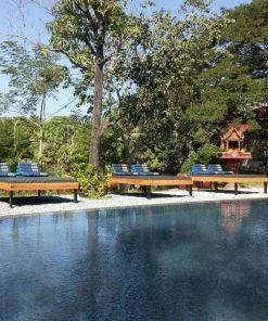 Sun Loungers by the pool - Bohemiaz Phnom Penh Resort.