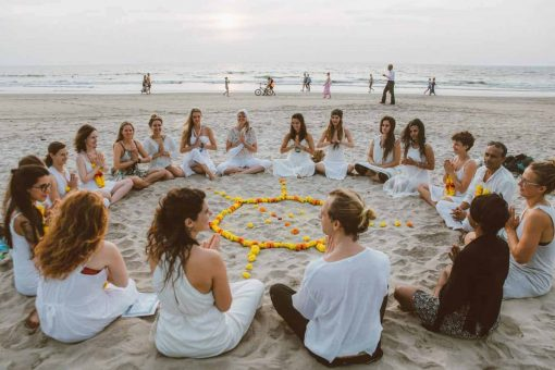 Ceremony on the beach of the Meditation Teacher Training in Koh Phangan by Institute for Meditation.