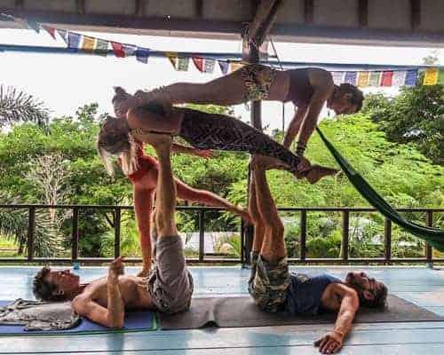 Acro Yoga at La Casa Shambala, Koh Phangan