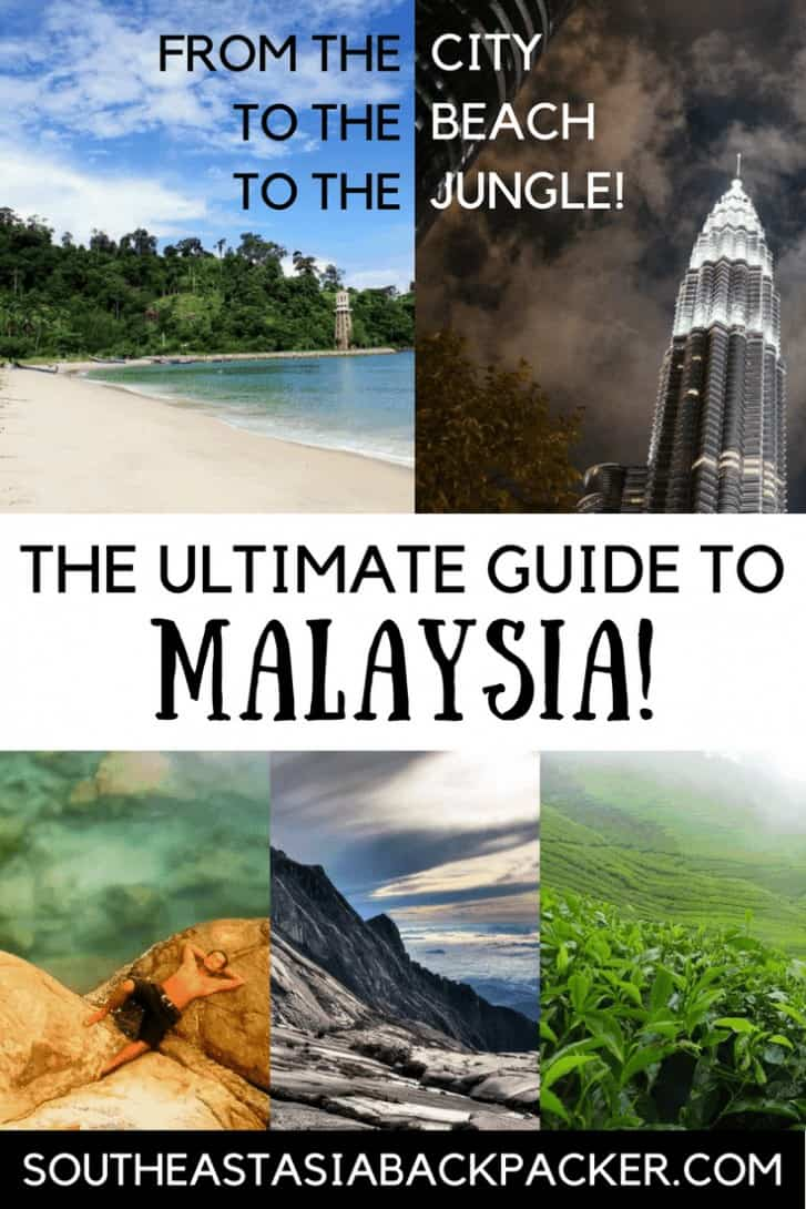 The ultimate guide to Malaysia, South East Asia Backpacker Pin Image