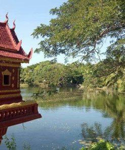 A spirit house at Bohemiaz Phnom Penh Resort.