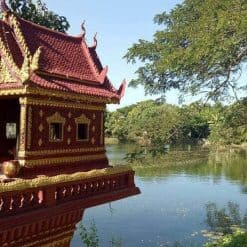 A spirit house at Bohemiaz Phnom Penh Resort.