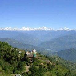 View of the Himalayas from Nagarkot, Nepal