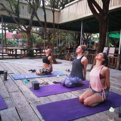 Morning Yoga at Samathi Lake Resort, Phnom Penh.