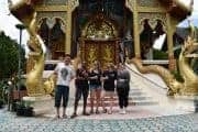 Visiting a temple in Chiang Mai on the Tuk Tuk Club Adventure.