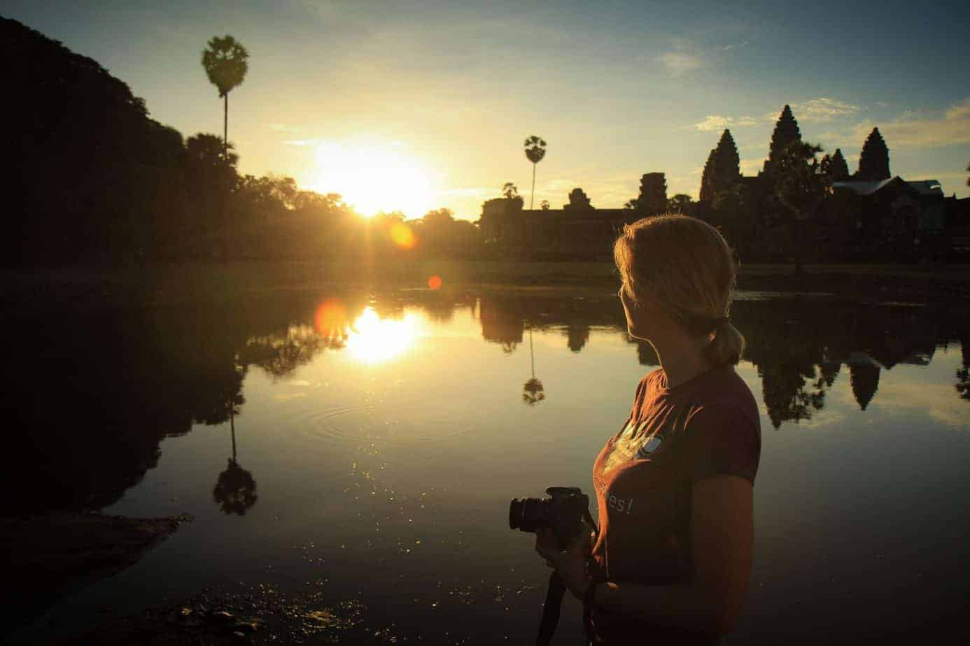 A traveller tries to capture the awe of Angkor Wat on camera!