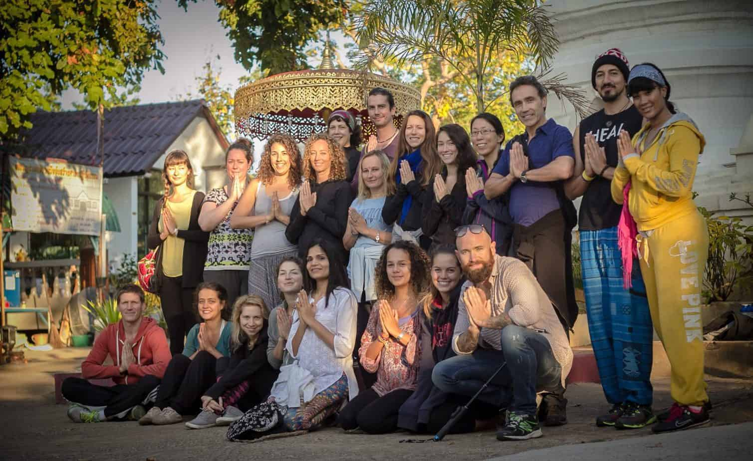 Students on Wise Living Yoga's Teacher Training Course last year in Chiang Mai.