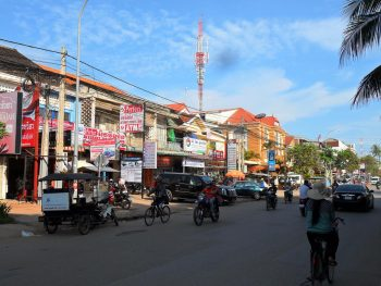 Backpacking in a part of Siem Reap, Cambodia.