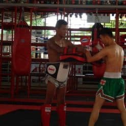 Honour Muay Thai, Krabi: Ajarn Yee and his student.