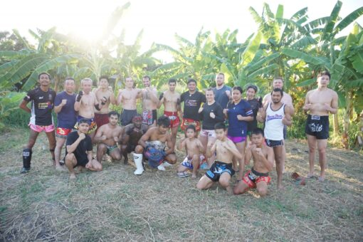 The crew at Attachai Muay Thai