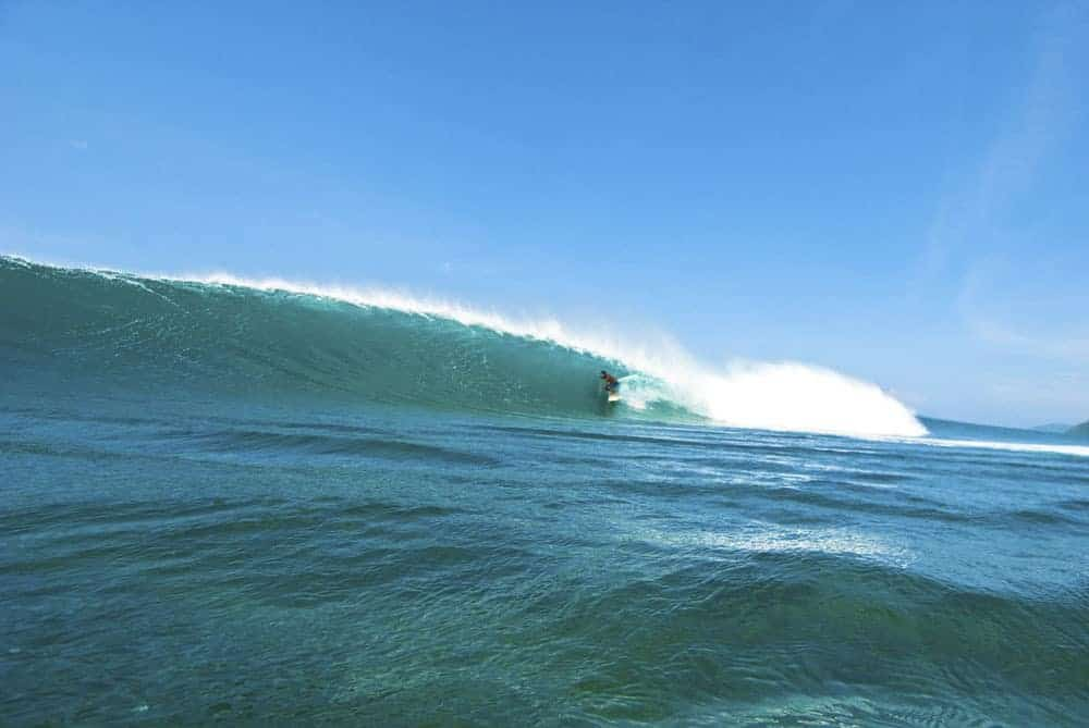 Perfect waves in Lhoknga, Northern Sumatra.