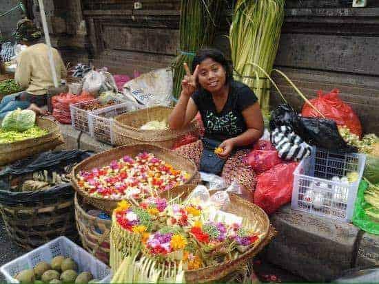 Lcal market, Ubud Bali
