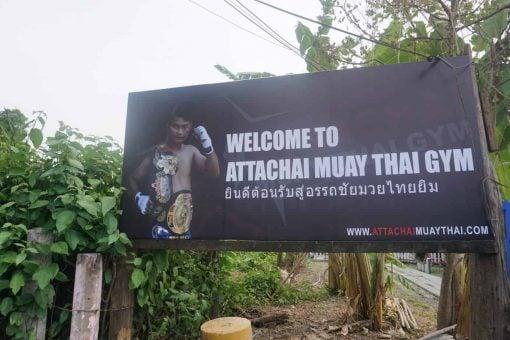 The location of Attachai Muay Thai Gym, Bangkok.