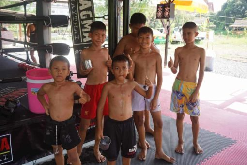 Young fighters at Attachai Muay Thai Gym, Bangkok.