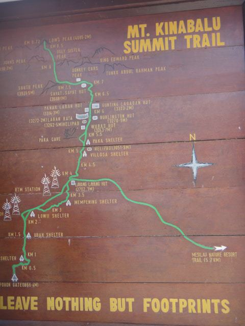The Mount Kinabalu Summit Trail.