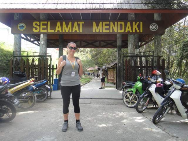 At the start of the Mount Kinabalu Trail