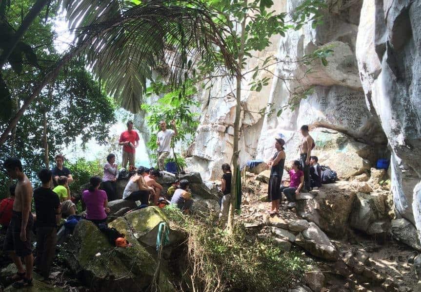 Rock Climbing in Bukit Takun, Malaysia