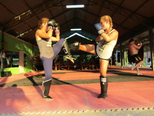 Training at Honour Muay Thai