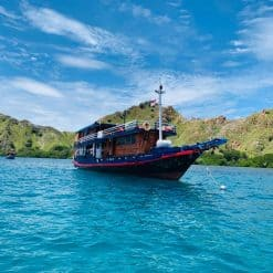Our boat, the Komodo Shalom