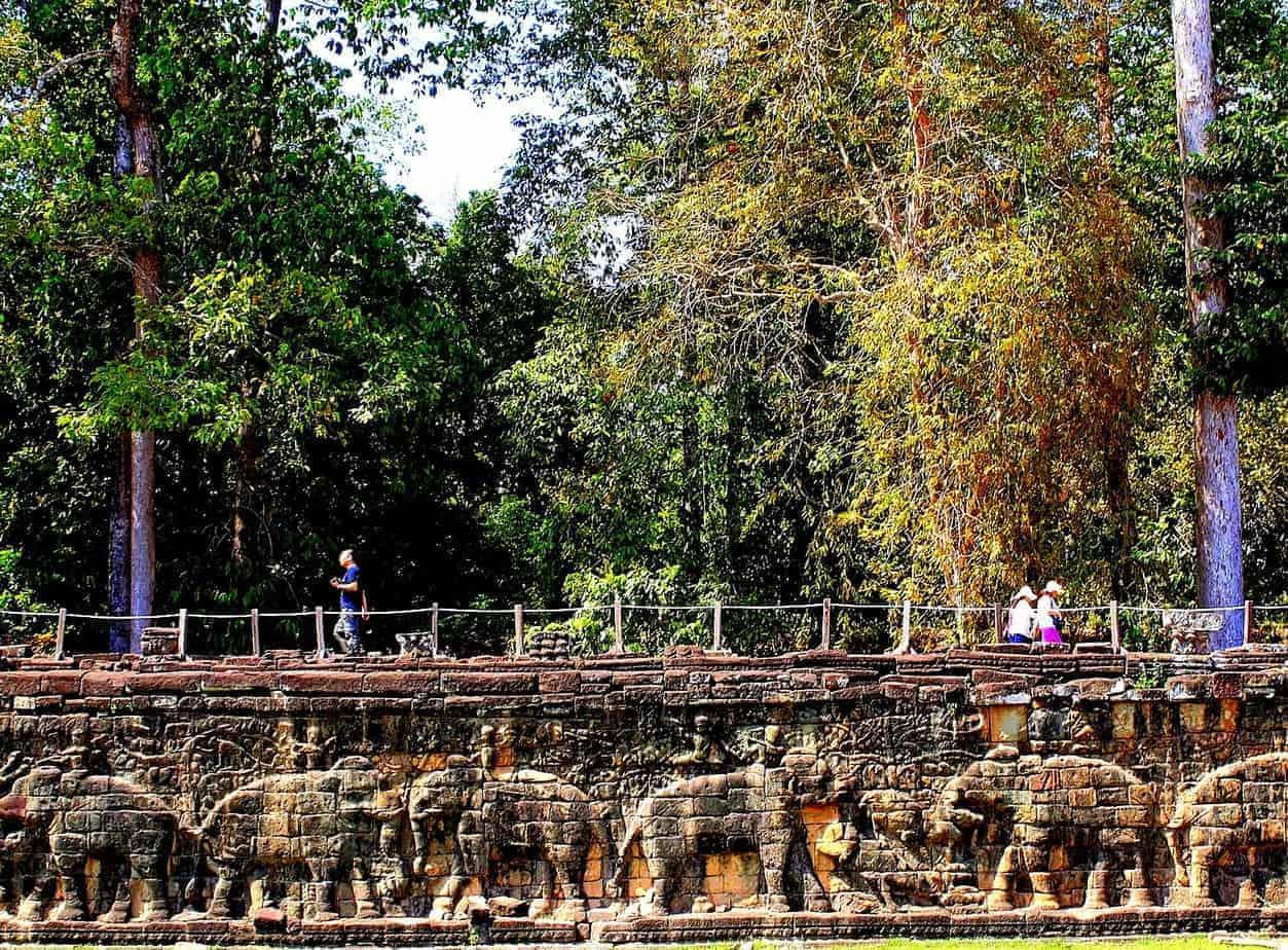 The walls of Angkor Thom