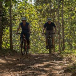 Biking through the forests near Luang Prabang, Laos.