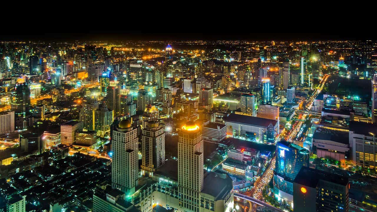 Bangkok Aerial View at night
