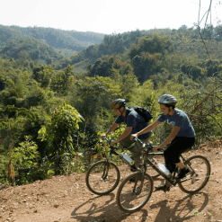 Biking in the countryside outside Luang Prabang.