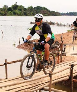 Cycling in Cambodia Tonle Sap