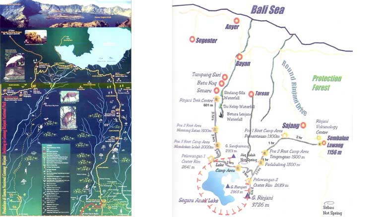 Mount Rinjani Trekking Map