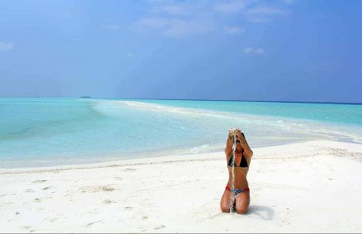 The whitest sand you'll ever see - Maldives!