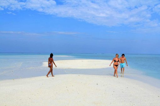 Maldives white sandy beaches