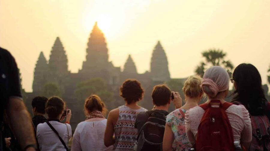 Angkor Wat Temples at Sunrise.