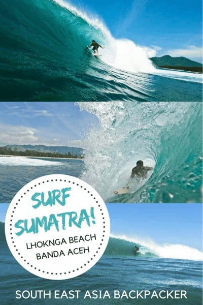 Surfing in Sumatra