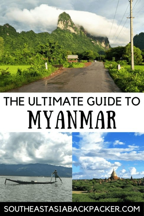 The ultimate guide to Myanmar, South East Asia Backpacker pin image
