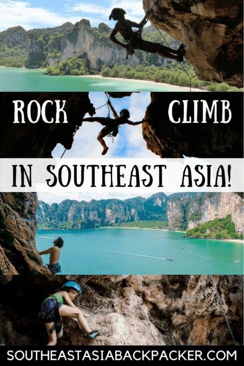Rock climbing in Southeast Asia