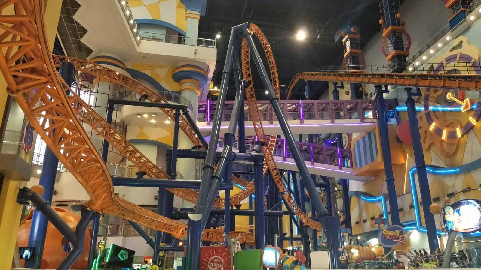 Roller Coaster inside a shopping mall KL