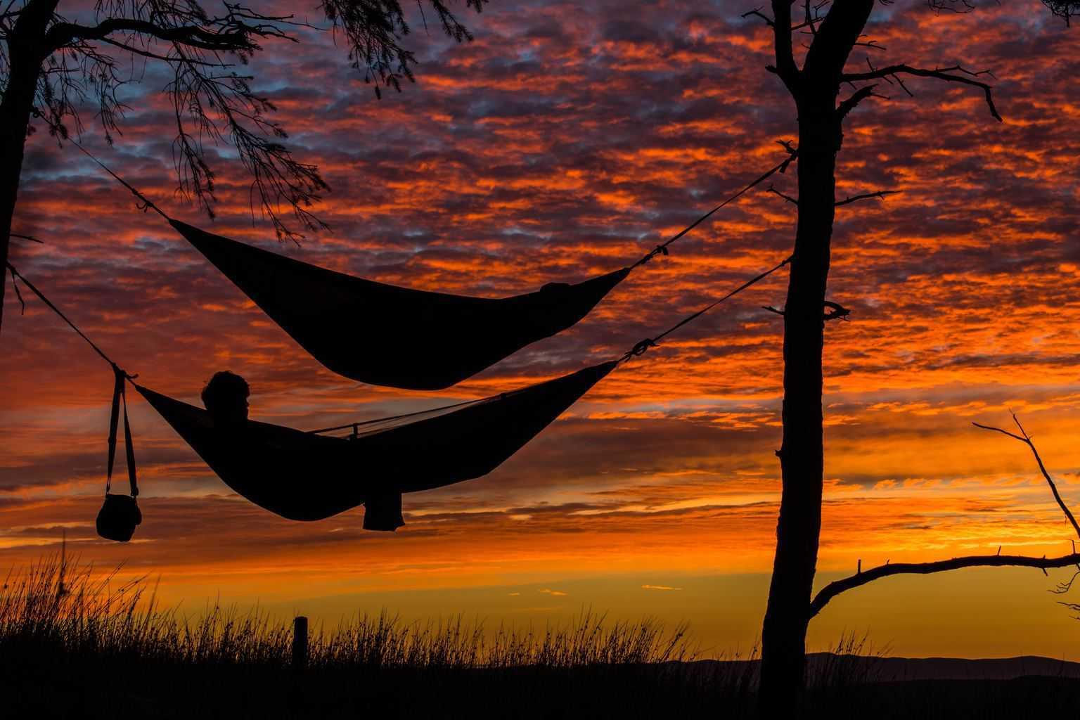 diy person myog hammock sleeping spandauer pin trees tree flat