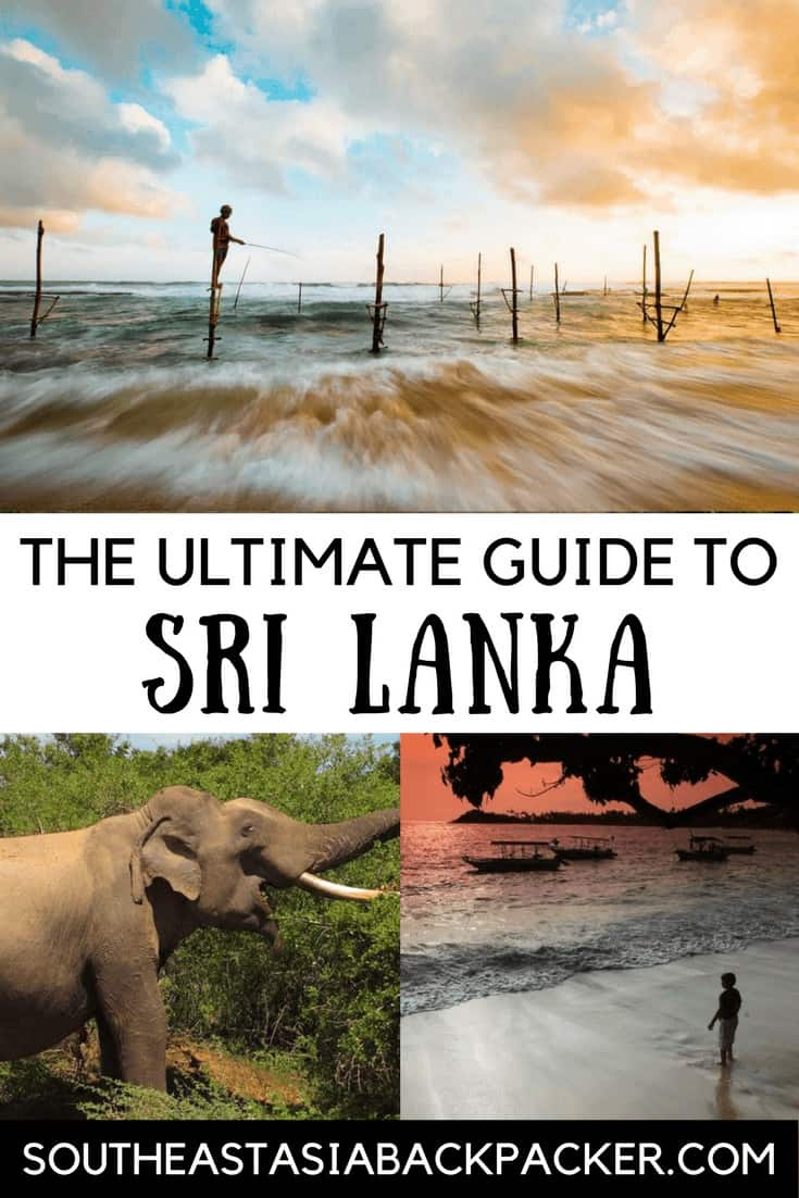 The ultimate guide to Sri Lanka South East Asia Backpacker Pin Image