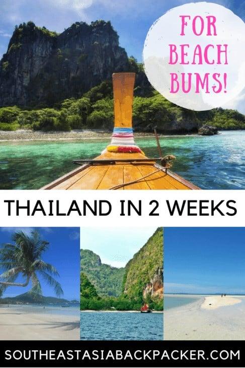 Thailand Itinerary Beach Bum