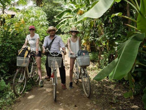 Cycling in Battambang, Cambodia