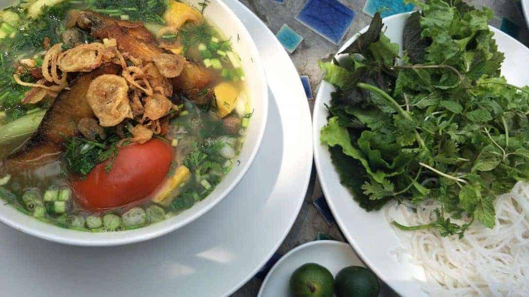 Bún cá (Fish noodle soup)