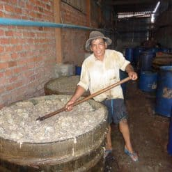 Making fish paste in Battambang, Cambodia