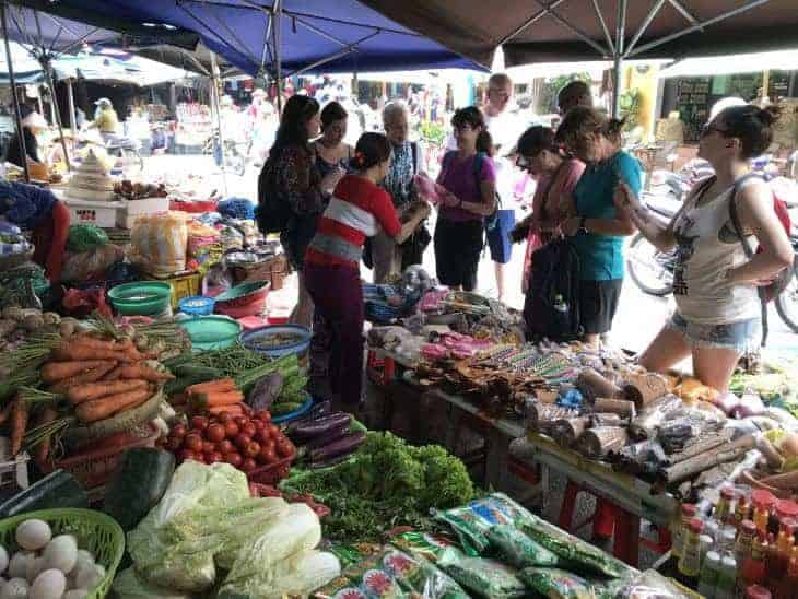 Exploring the local market in Hoi An