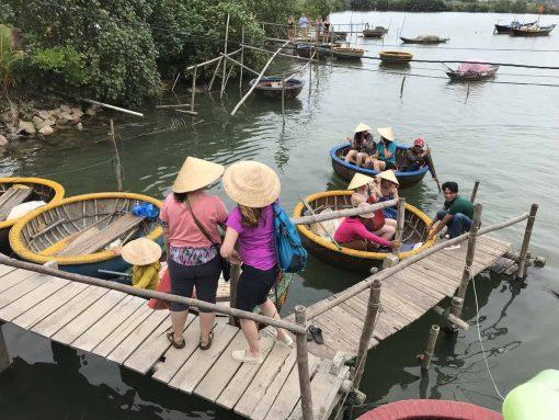 Basket boat sailing in Hoi An, Vietnam