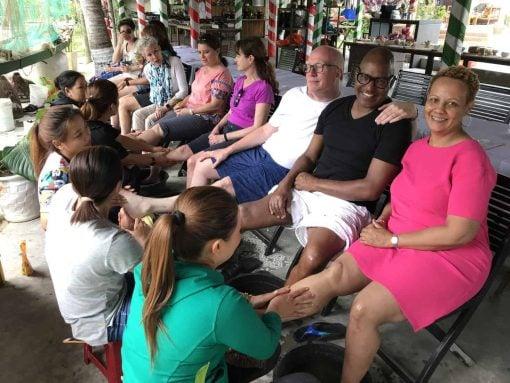 Foot massages in Hoi An, Vietnam